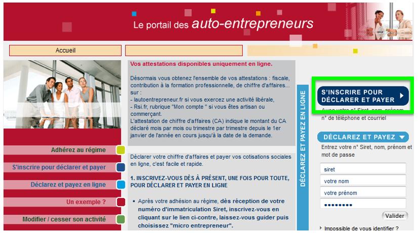 Inscrivez Vous Sur L Autoentrepreneur Fr Mooc Net Entreprises