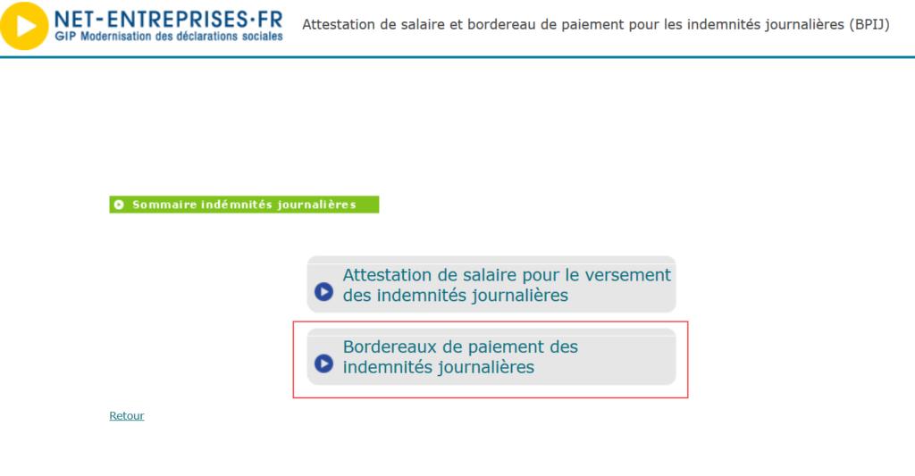 Accedez Au Bordereau De Paiement Des Indemnites Journalieres